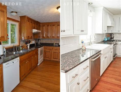 How To Paint Existing Kitchen Cabinets by 10 Fab Farmhouse Kitchen Makeovers Where They Painted The