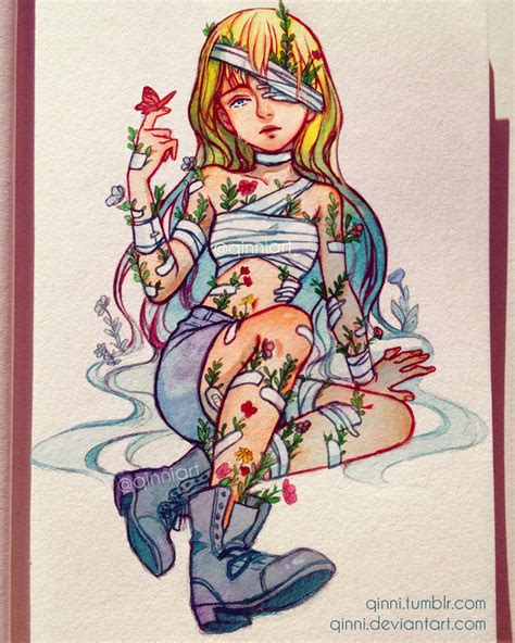 qinni sketchbook flower wounds by qinni on deviantart