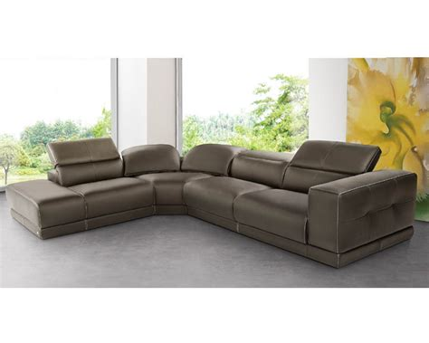 Italian Sectional Sofas by Italian Sectional Sofa Set In Brown Leather 33ls141