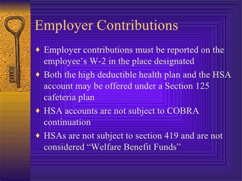 section 125 cafeteria plan hsa hsa hra fsa powerpoint