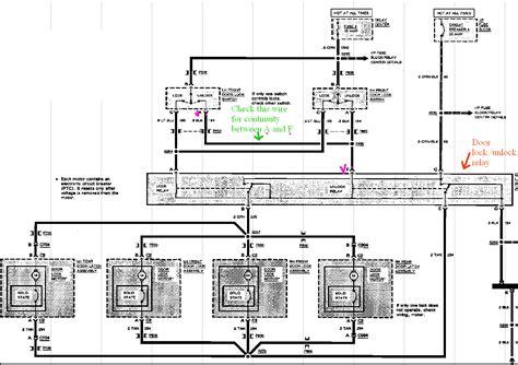door lock relay wiring diagram my 1992 buick park avenue driver side power door lock switch will lock the doors but will not