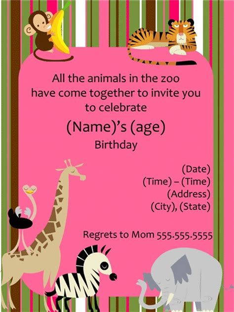 printable zoo animal invitations 37 best images about zoo party on pinterest jungle