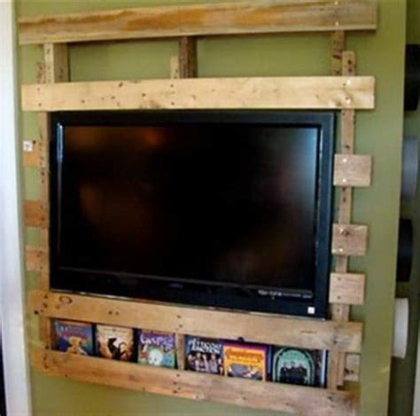 ways to mount a tv 64 creative ideas and ways to recycle and reuse a wooden