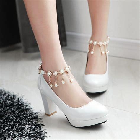 aliexpress buy white wedding shoes platform high