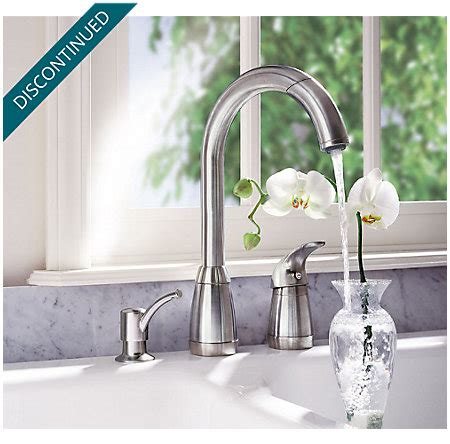 Stainless Steel Contempra 1 Handle Kitchen Faucet   526