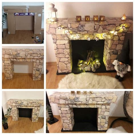 how to make christmas gift box mantel decor hgtv 25 best ideas about cardboard fireplace on pinterest