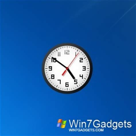 wallpaper clock windows 7 modern clock gt 7 windows 7 desktop gadget