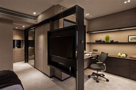 Tv Room Divider Mid Levels East Contemporary Home Office Hong Kong By Chinc S Workshop