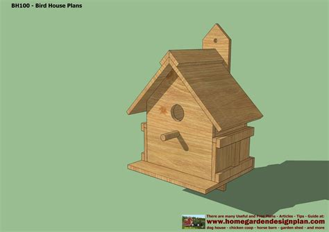 Home Garden Plans Bh102 Bird House Plans Construction