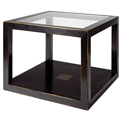 Coffee Table Cube Cube Coffee Table Distressed Lacquer