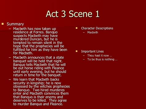 themes of macbeth act 1 scene 1 macbeth act 3 notes
