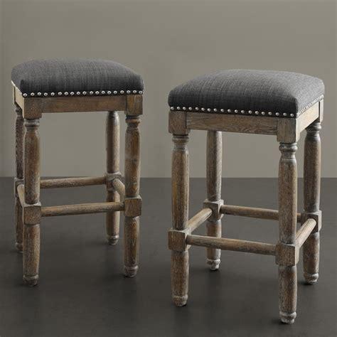 Renate Bar Stools by Renate Grey Counter Stools Set Of 2 Dining Room Bar Modern