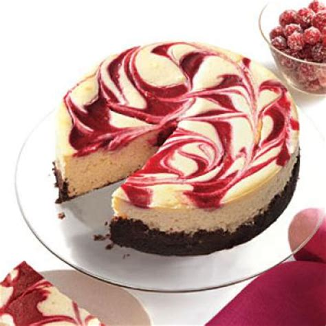 cranberry swirl cheesecake healthy holiday dessert