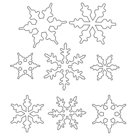 snowflakes templates snowflake patterns to trace coloring home