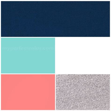 wedding colors navy pool blue coral silver