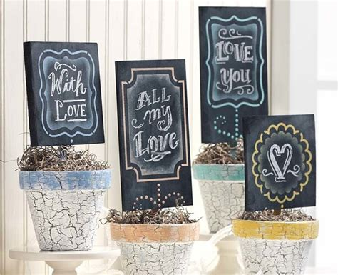 Planter Markers by Chalkboard Planter Markers Favecrafts