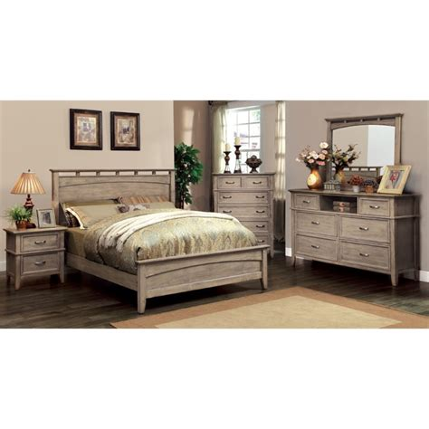Coastal Bedroom Furniture by Furniture Of America Ackerson Coastal 2 Panel