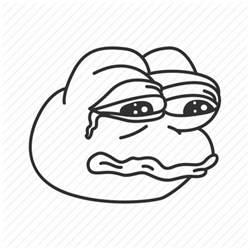 Meme Icon - crying frog funny meme pepe reaction sad icon icon