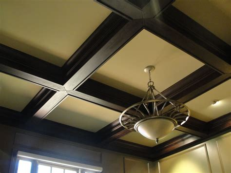 Coffered Ceiling Lighting Custom Coffered Ceiling By Clawhammer Custommade