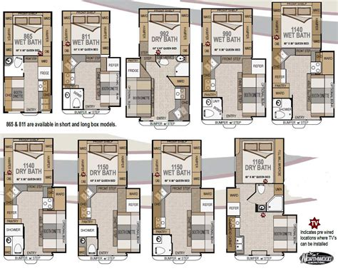 arctic fox 5th wheel floor plans 2010 northwood arctic fox truck cer floorplans