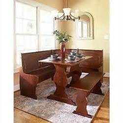 Kitchen Nook Table Set Kitchen Breakfast Nook Corner Dining Set Booth Cottage Wood Dinette Table Bench Ebay