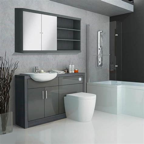Www Bathroom Furniture Hacienda Fitted Furniture Pack Grey Buy At Bathroom City