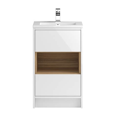coast 500mm floorstanding vanity unit with open shelf