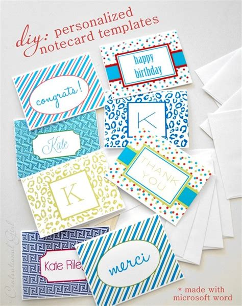 diy personalized notecards centsational style