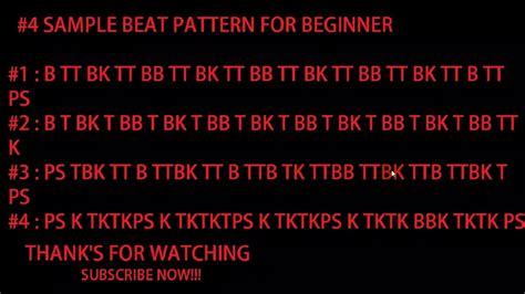 Pattern Beatbox Beginner | beatbox tutorial 4 simple pattern for beginner youtube