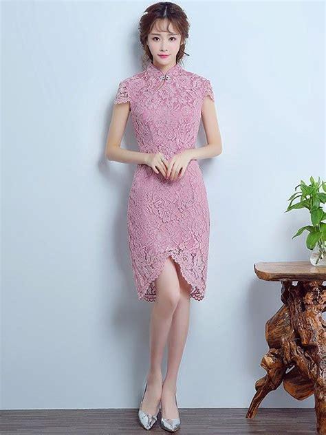 Brukat Cheongsam Collar mandarin collar lace qipao cheongsam dress with