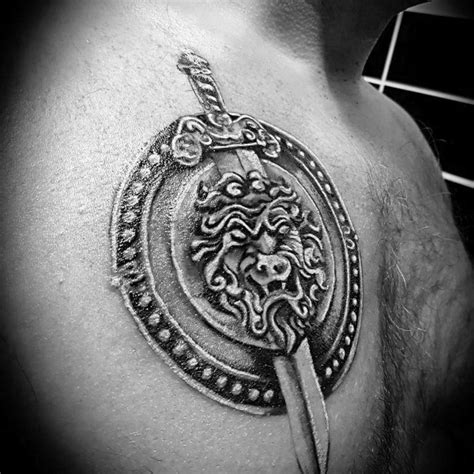 sword and shield tattoo top 70 best shield design ideas for armor