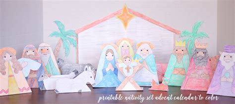 free printable nativity advent calendar nativity advent calendar to print and color do small