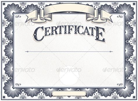 download blank certificate template for free formxls