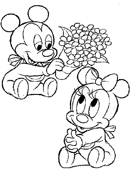 Baby Mickey Mouse Coloring Pages Coloring Home - coloring pages of baby mickey mouse coloring home