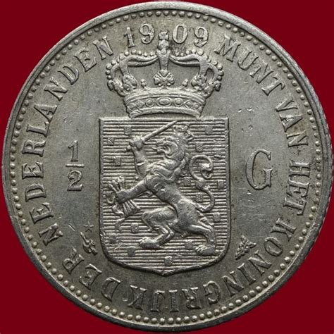 Coin Nederlands Silver 1909 the netherlands 189 guilder 1909 wilhelmina silver