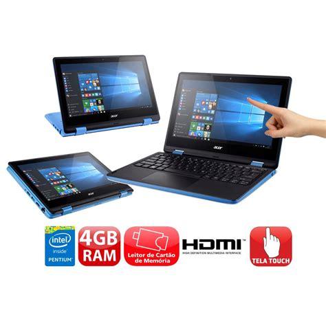 Notebook Acer 11 6 notebook 2 em 1 acer pentium 4gb 500gb tela 11 6