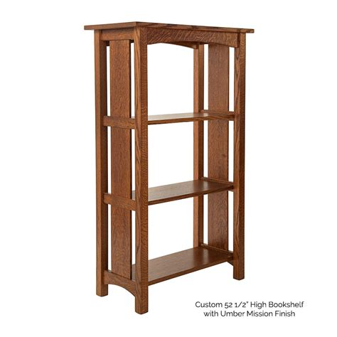 mission style bookshelves mission oak bookcase solid wood traditionally