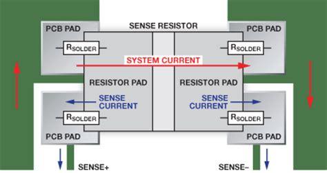 kelvin sense resistors optimize high current sensing accuracy by improving pad layout of low value shunt resistors