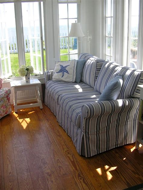 blue and white ottoman blue and white striped sofa slipcover hereo sofa