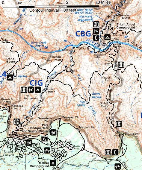 grand map trails grand national park for 2000