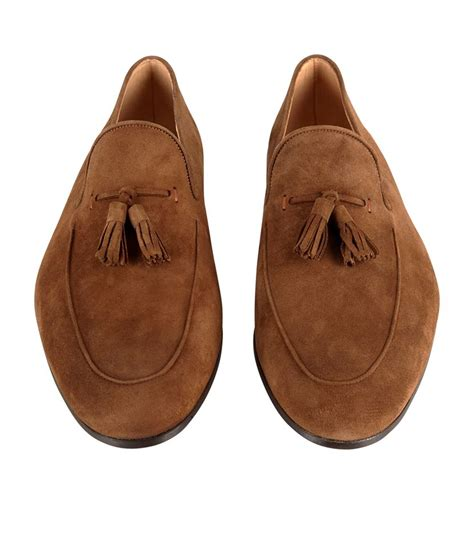 mens brown suede tassel loafers magnanni suede tassel loafer in brown for lyst