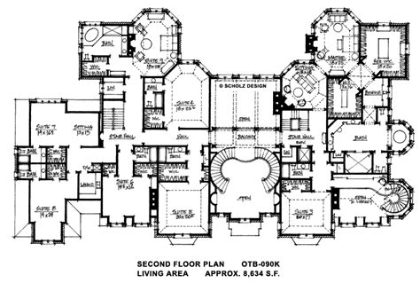 free mansion floor plans 18 390 sq ft second floor homes