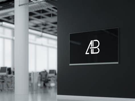 digital design mockup wall mounted digital display mockup apemockups