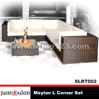 Jual Sofa Chandra Karya harga jual meylan sofa l corner set rotan sintetis model