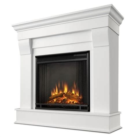 real chateau electric fireplace in white finish