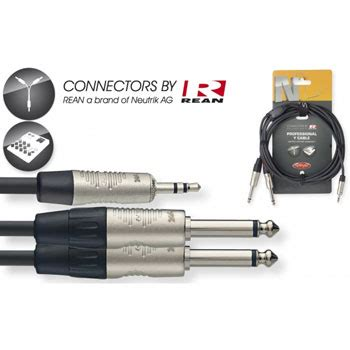 Bespeco Slymsj300 Kabel Mini Stereo To 2 Mono 65 3 Meter 1m stagg mini to 2x ln41491 nyc1 mps2pr scan uk