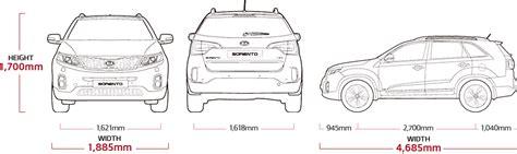 Kia Dimensions Sorento Specs Suv Mpv Kia Motors Dominica