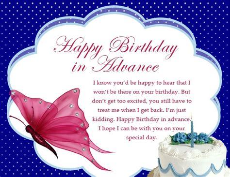 Happy Early Birthday Wishes Happy Birthday In Advance Early Birthday Wishes