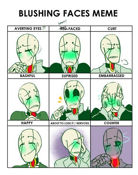 Deviantart Meme - blushing faces meme nt by bunnymuse on deviantart
