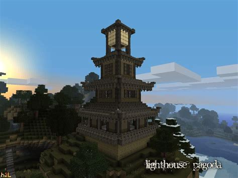 Medieval House Interior by Large Pagoda Tower Minecraft Building Inc